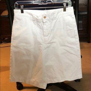 White khaki shorts